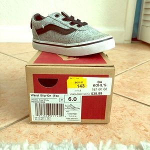 Vans Grey/Black Toddler Size 6c